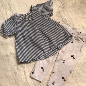 Old Navy 6-12 month shirt and pant set
